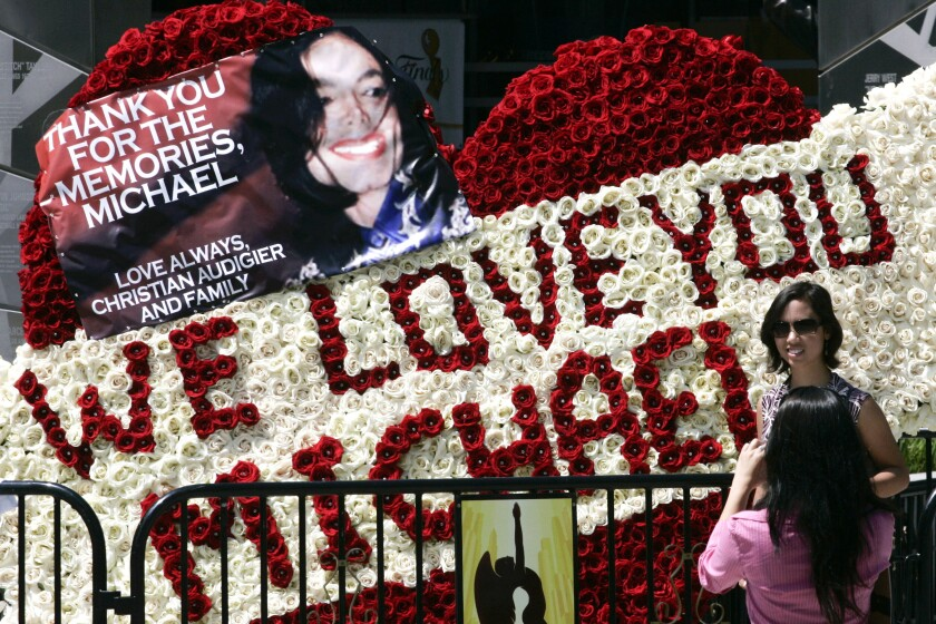 Public memorial for Michael Jackson in Los Angeles, California, on Tuesday, July 7, 2009.