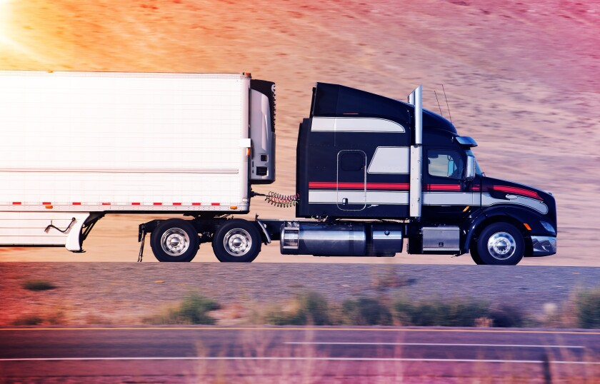Trailer Truck adobe stock