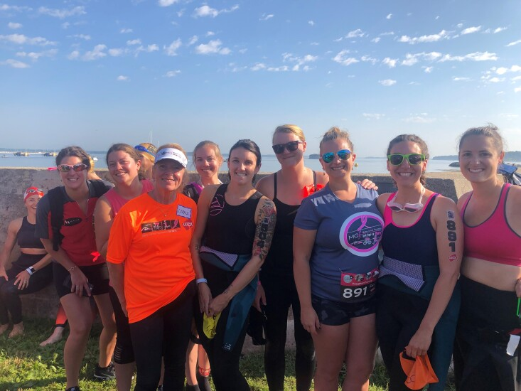 Town & Country Federal Credit Union's staff participate in the annual Tri for A Cure fundraiser for the Maine Cancer Foundation. Employee participants collectively raised nearly $12,000 for the cause.