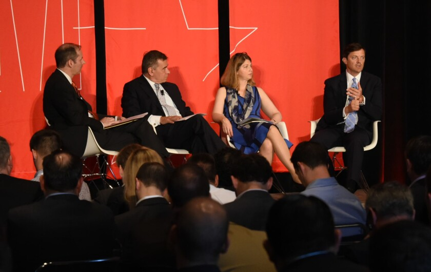 Morningstar's Dan McNeela hosted a panel on the future of diversification with John Hancock Asset Management's Bob Boyda, Ann Lester of J.P. Morgan Asset Management and Brad Vogt of American Funds .