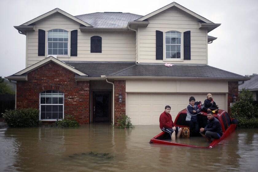 Hurricane Harvey flooding in Spring, Texas