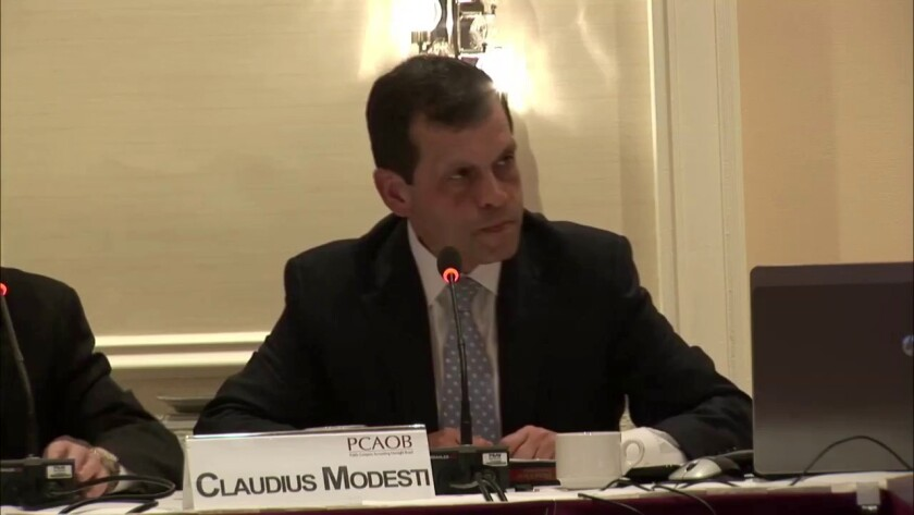 Claudius Modesti, outgoing director of the PCAOB's Division of Enforcement and Investigations