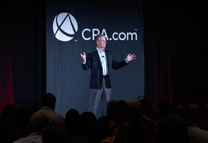 Erik Asgeirsson addressing the 2018 Digital CPA conference