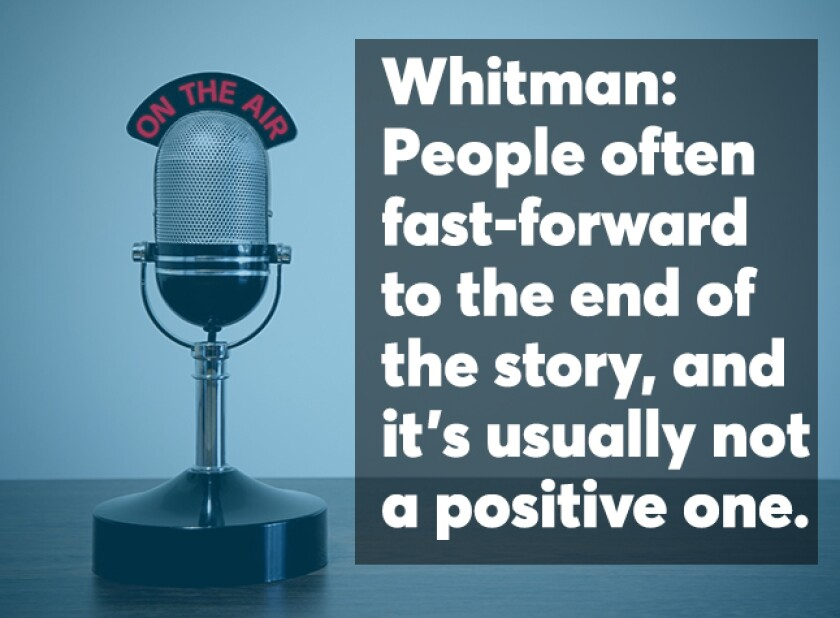 Whitman Podcast screen