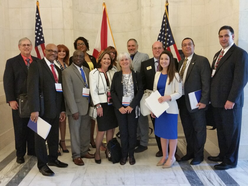 The National Association of Enrolled Agents' Florida delegation visits the Capitol
