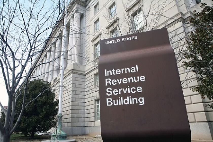 IRS Internal revenue service building by bloomberg
