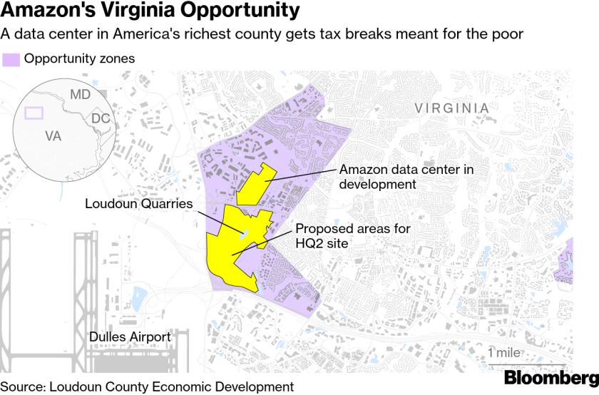 Amazon Virginia data center and HQ2 plans