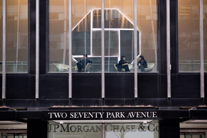 Exterior of JMorgan Chase headquarters