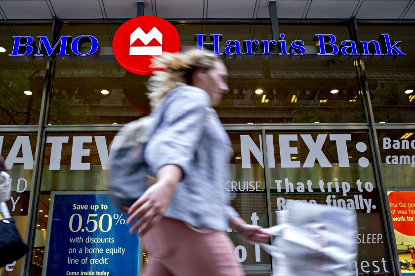 BMO Harris Bank To Emphasize Digital Revamp In U.S. Strategy Shift 10/8/19