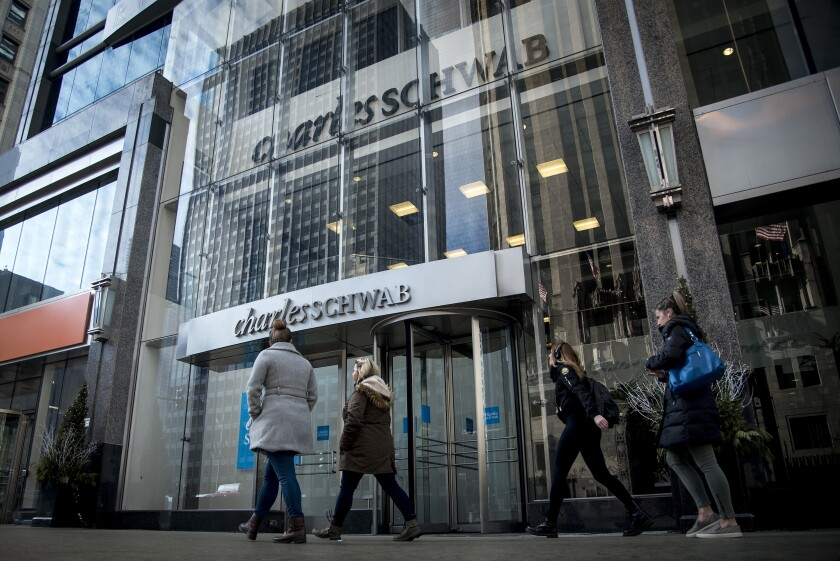 Charles Schwab custodian storefront Bloomberg April 22, 2019