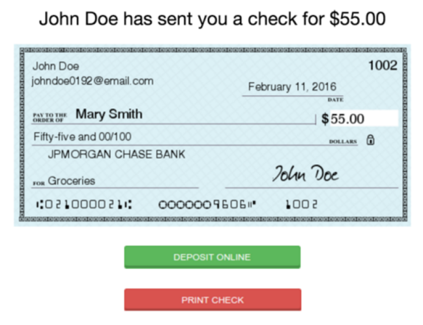 Checkbook.io digital check
