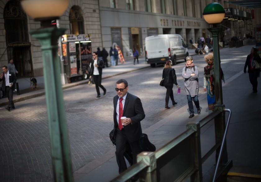 man walking nYC street