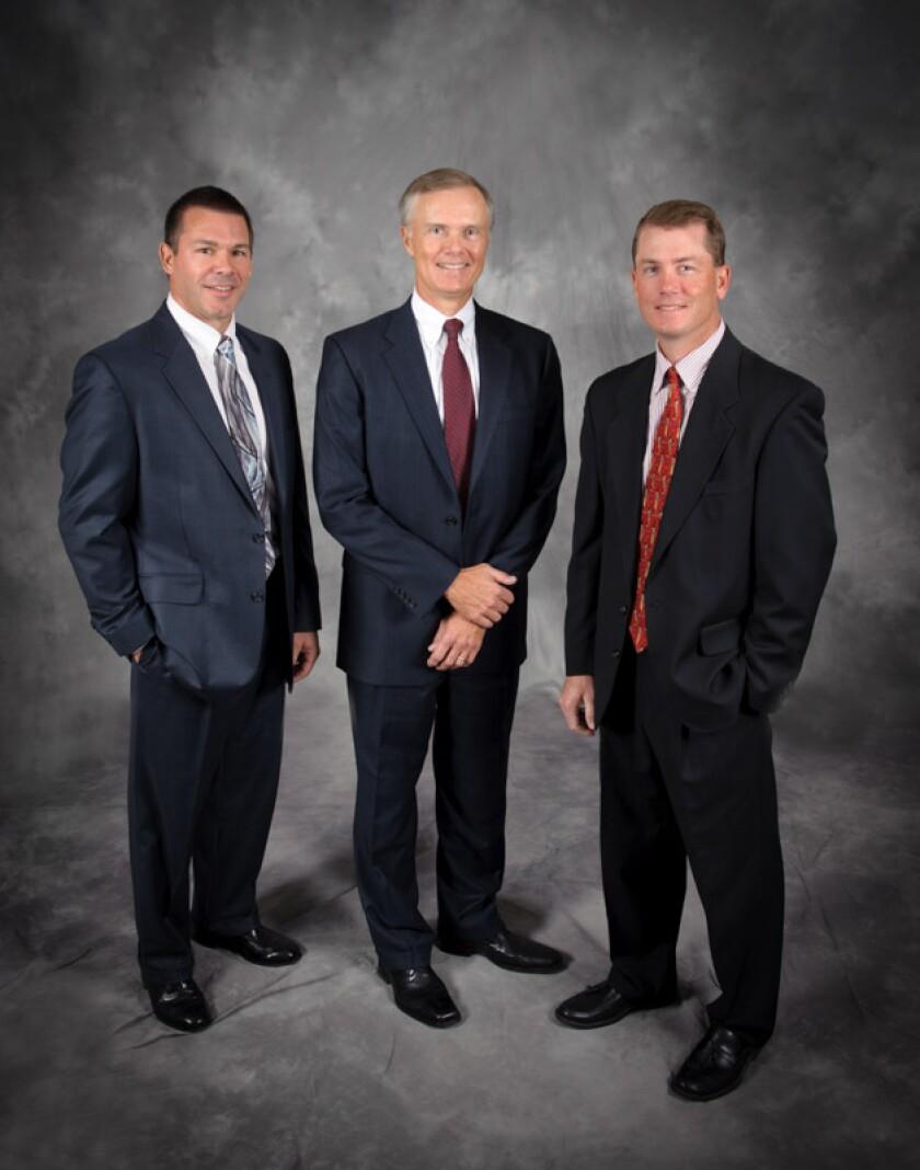 Tim Kelly, Doug Ritter and Matt Hardyman, Discovery Financial Centers