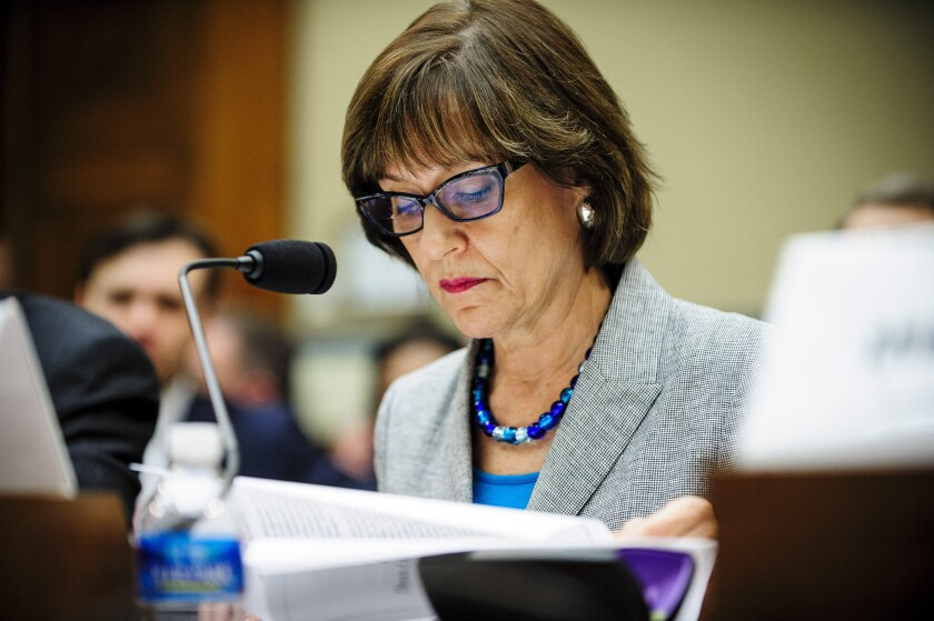 Former IRS exempt organizations director Lois Lerner during a 2013 congressional hearing