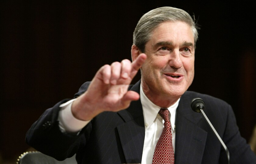Special Counsel Robert Mueller III, testifying before Congress when he was FBI director