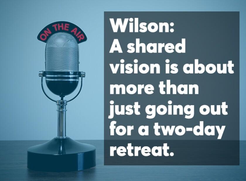 Wilson on partnership podcast screen