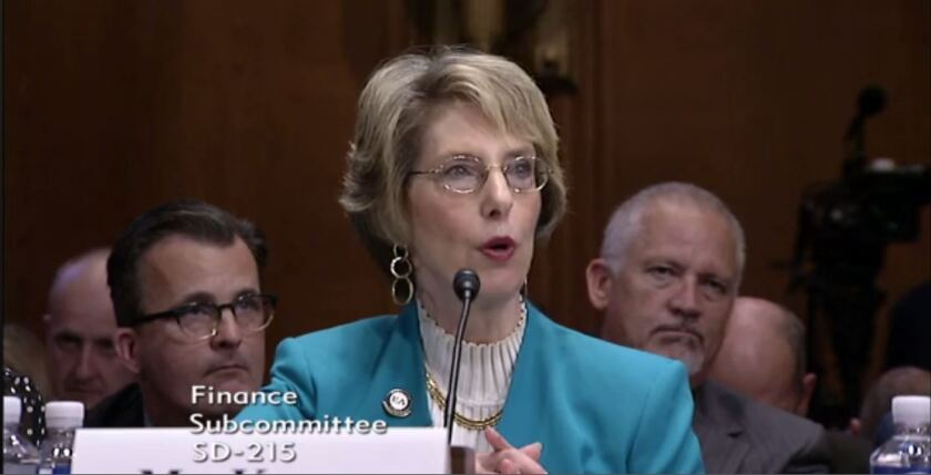 Phyllis Jo Kubey of the National Association of Enrolled Agents testifying before the Senate Finance Subcommittee on Taxation and IRS Oversight