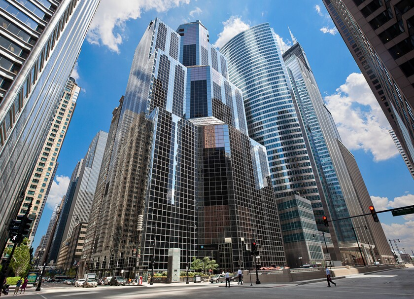 MichaelSilver's new office at 1 Wacker Drive in downtown Chicago