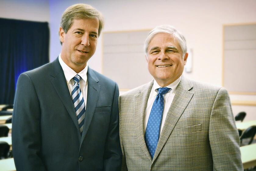 Elliott Davis CEO Rick Davis (l) and Chattanooga market leader Nick Decosimo