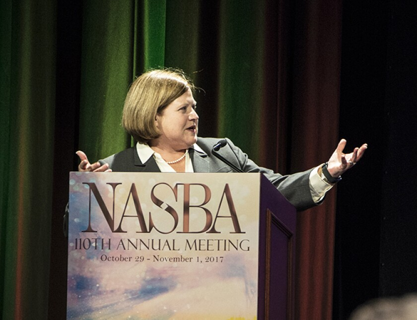 Colleen Conrad of NASBA at their 110th annual meeting