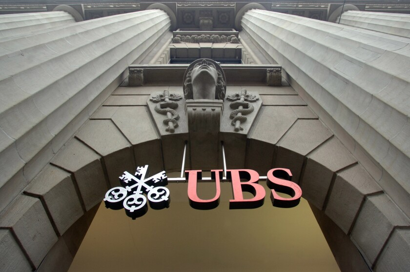 UBS building entrance in Zurich