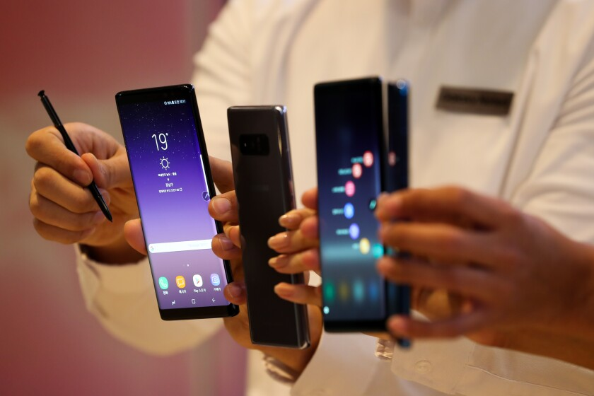 Samsung debuts its new Galaxy Note 8 smartphones on Sept. 12, 2017