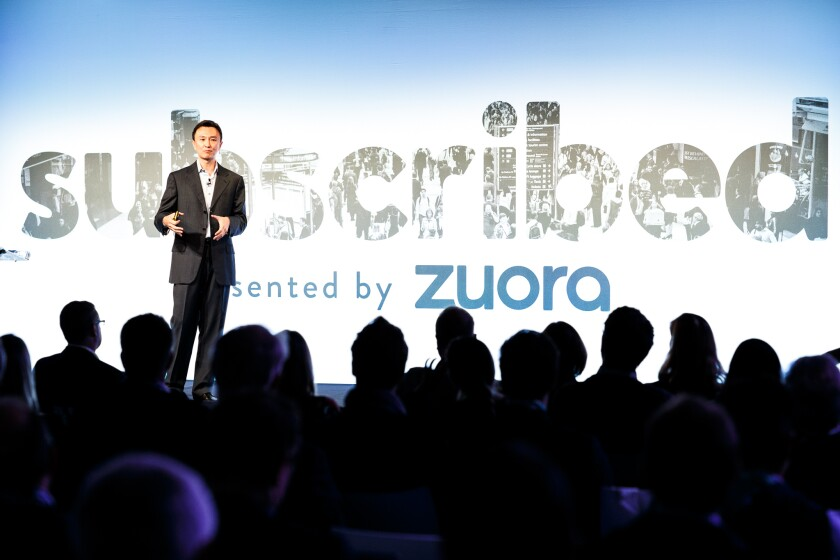Zuora CEO Tien Tzuo at the company's Subscribed conference
