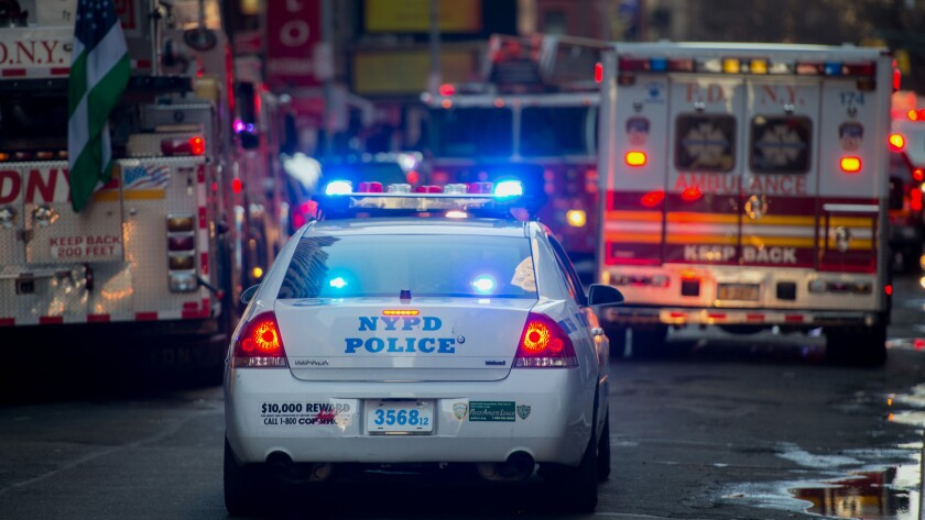 NYPD Officers And FDNY Members As Police Are Redeployed In Response To Paris Attack