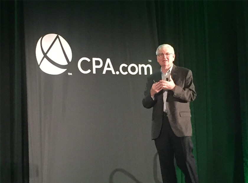 Barry Melancon addressing the 2019 Digital CPA conference