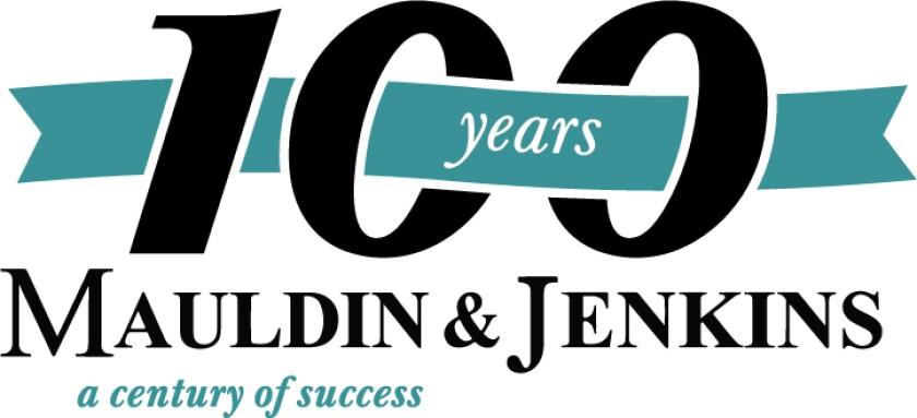 Mauldin & Jenkins 100th anniversary logo