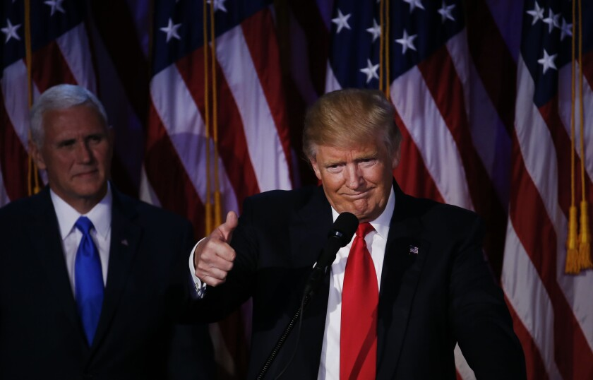 Donald trump thumbs up by bloomberg news