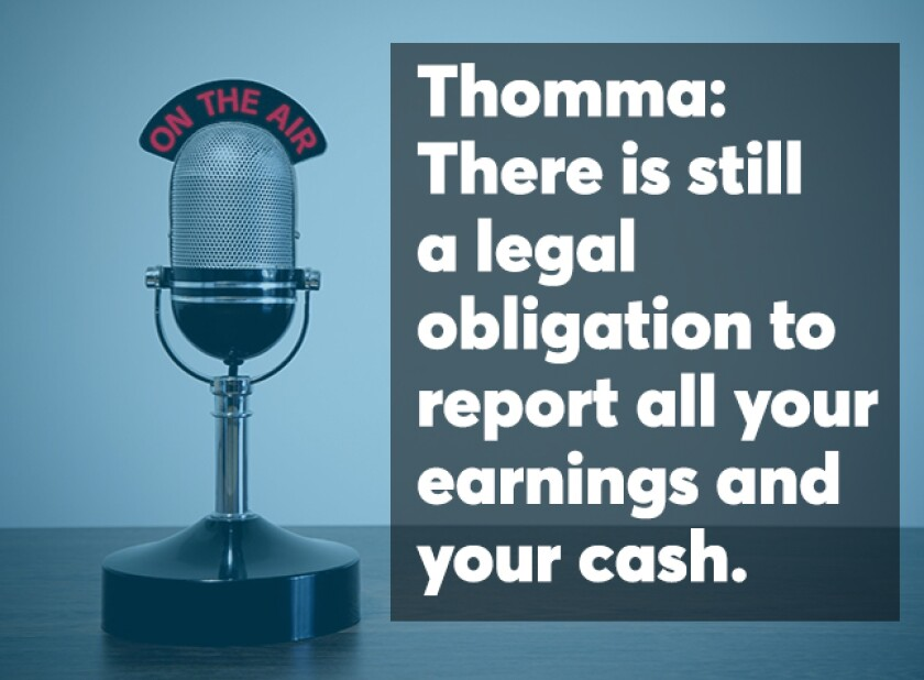 Thomma podcast screen