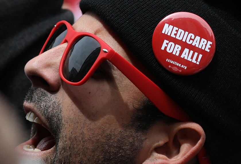 Progressive Democrats of America Hold A 'Medicare For All' Rally Outside PhRMA Headquarters