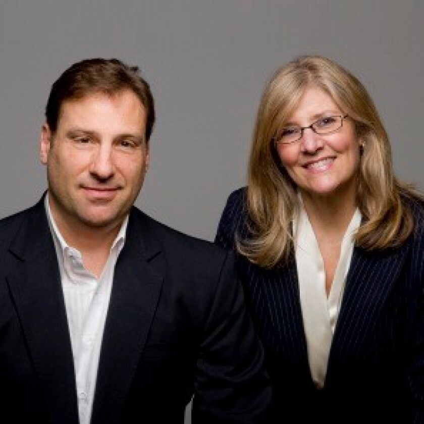 Sam Maxwell, left, and Sherry Nelson Raymond James