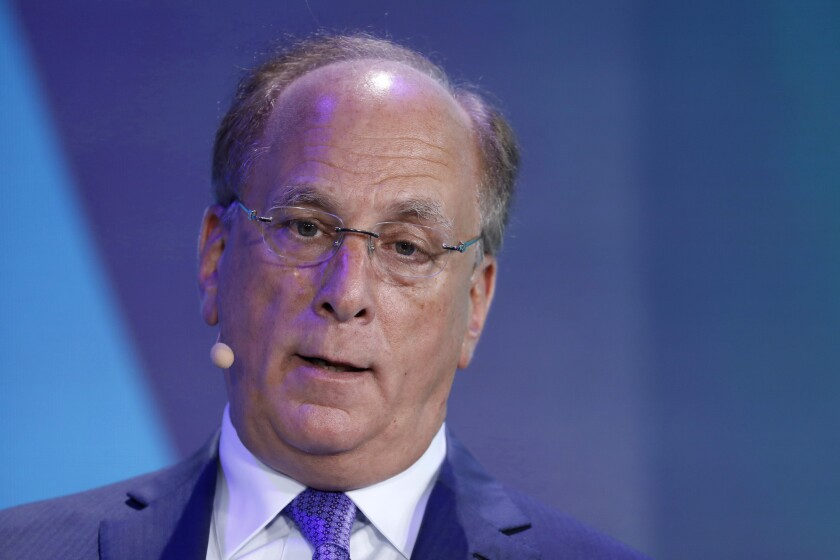 BlackRock CEO Larry Fink says a resolution in global trade tensions could result in a surge of investing in 2019.