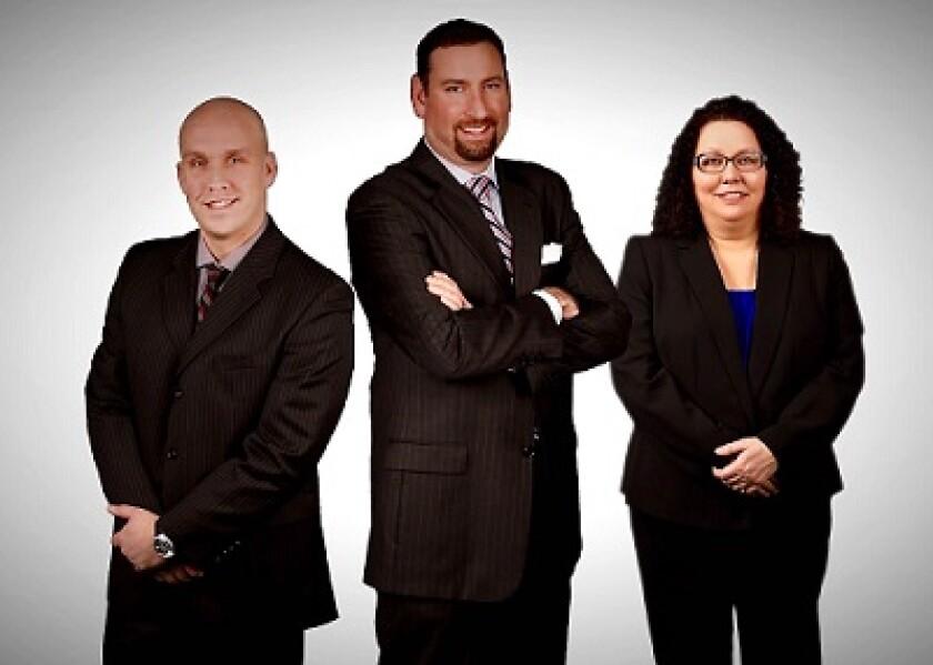 Michael Hartman, Dewey Steffen, Carmela Eastin Raymond James