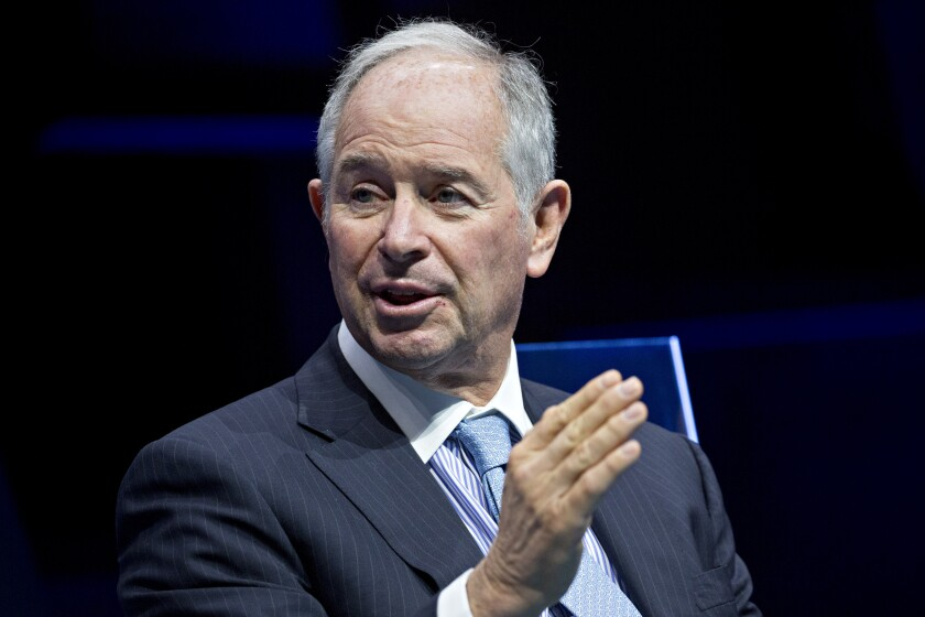 """Changing the company's structure will increase the firm's """"ability to reach a dramatically larger audience,"""" said Blackstone CEO Stephen Schwarzman."""