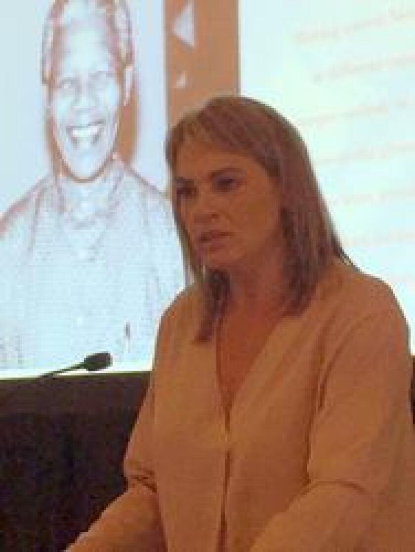Zelda la Grange, a former aide to Nelson Mandela, spoke at the Integra conference