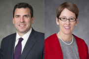 Shelly O'Connor and Andy Saperstein, co-heads of Morgan Stanley Wealth Management