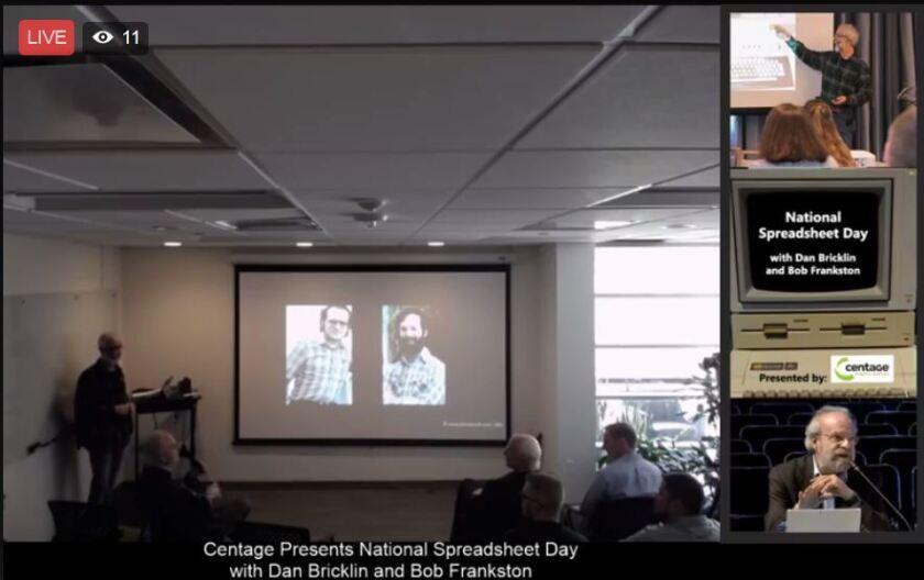 Dan Bricklin and Bob Frankston at Centage's National Spreadsheet Day event