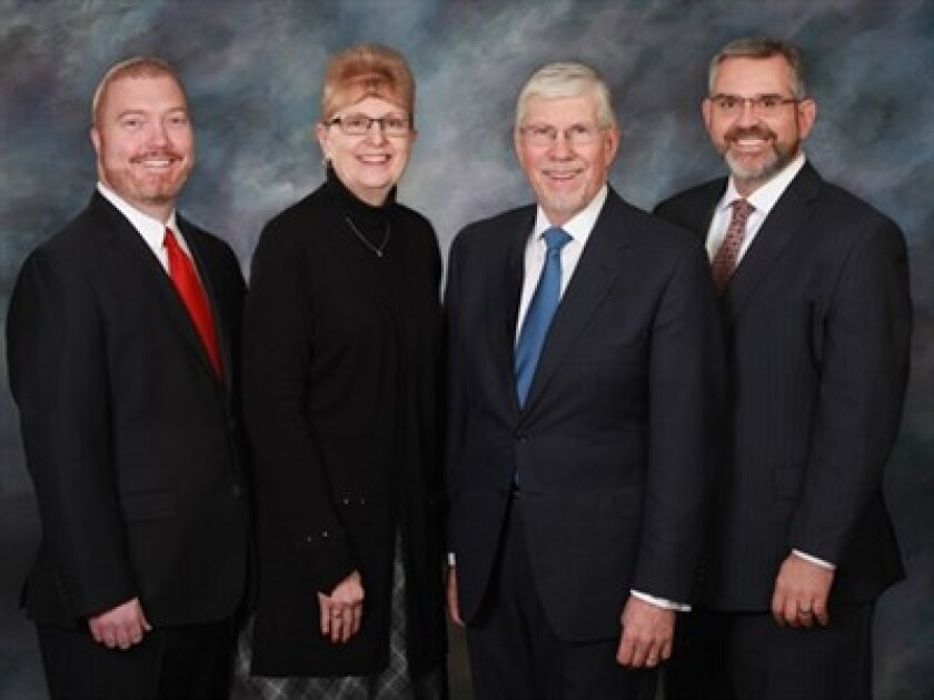 Ameriprise picked up its newest hires from Wells Fargo. From left to right: Justin Bostic, Debbie Alvarado, Mike Wincek and David Casteel.