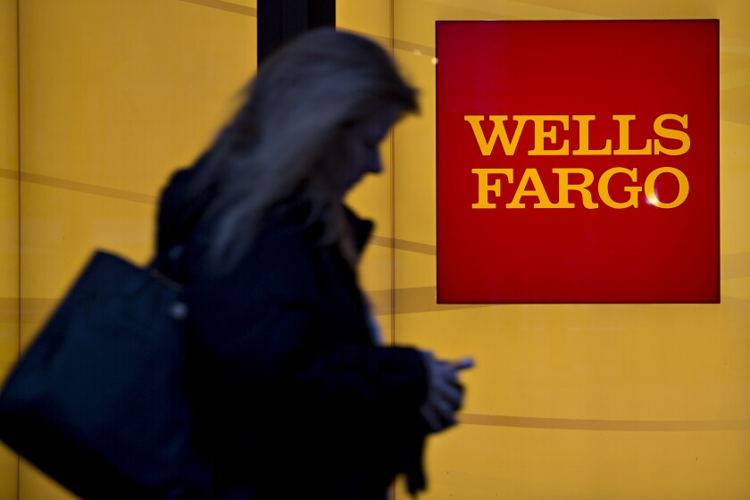 Wells Fargo shadow by Bloomberg News