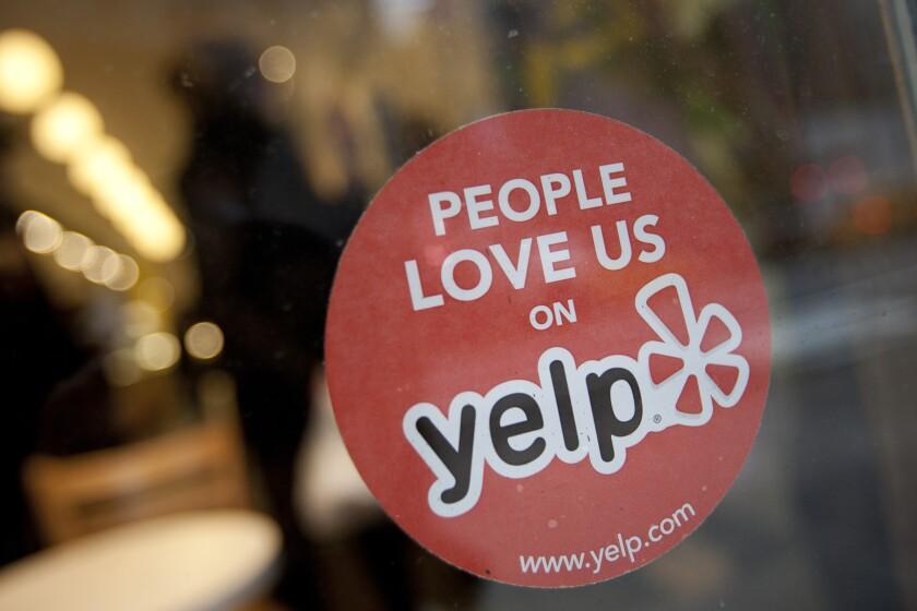Yelp sticker