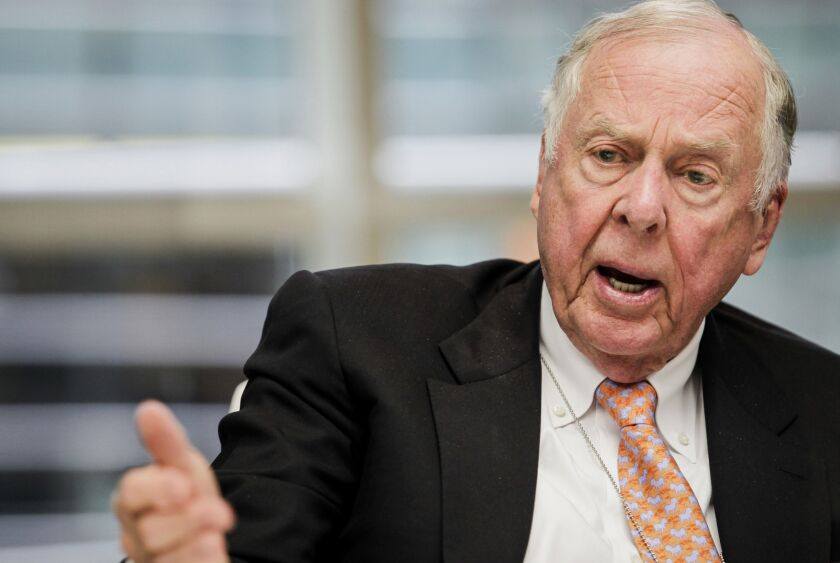 Oil tycoon T. Boone Pickens' eponymous fund is swapping out one of its crude investment vehicles for renewables, seeing an opportunity in clean energy as fossil fuels get pummeled in the capital markets.