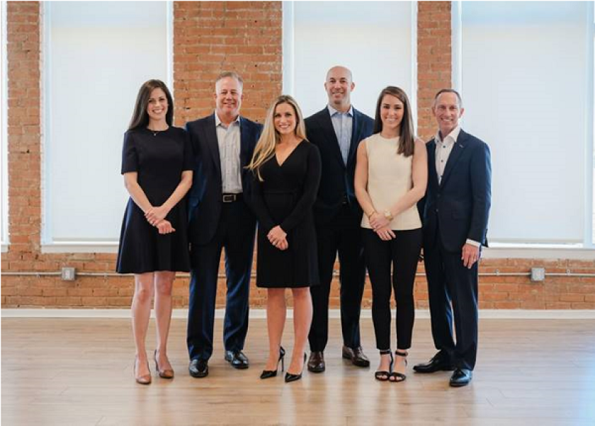 The former Wells Fargo team joined two advisors who left UBS in February to form Wealth Partners Advisors. From left to right: Courtney Andring, David McBee, Brittany Smith, Michael Peschel, Lauren Thompson, and Michael Mikeska.