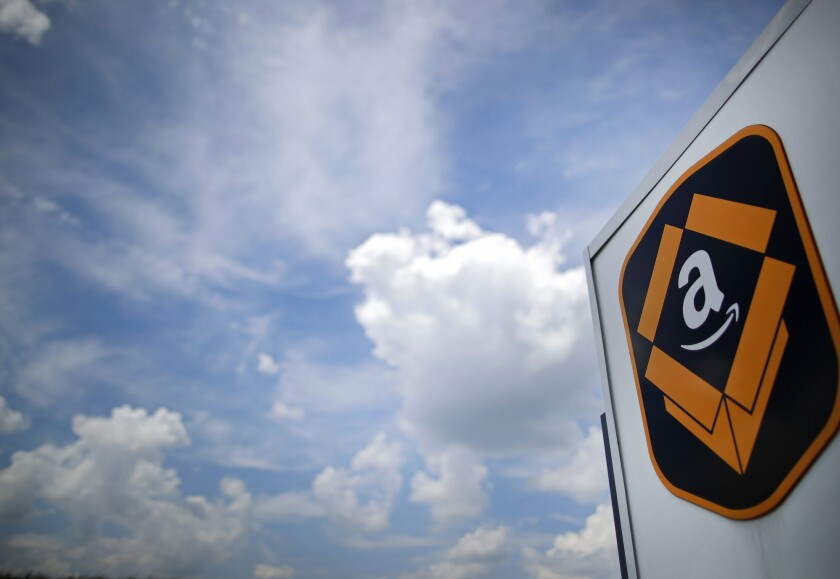 An Amazon fulfillment center in Kenosha, Wisconsin