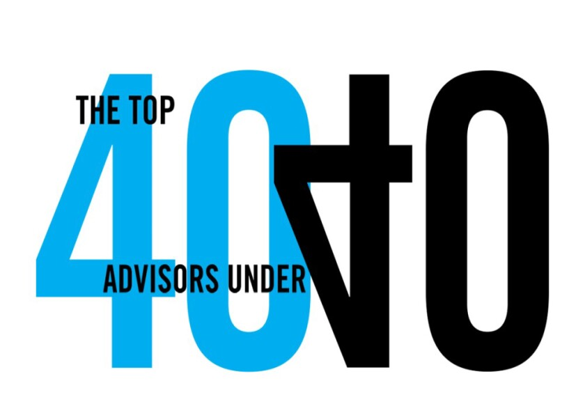 Top 40 Advisors Under 40 logo no date included