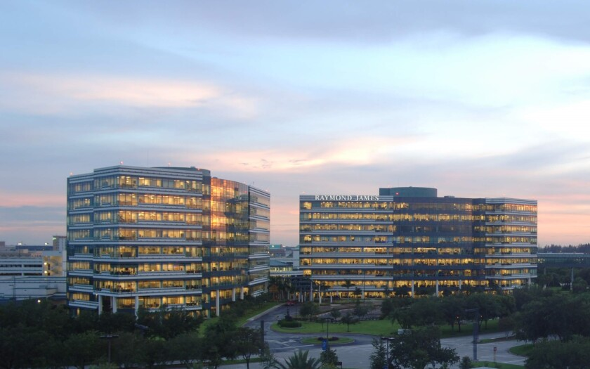 Raymond James camps at dusk provided by firm cropped
