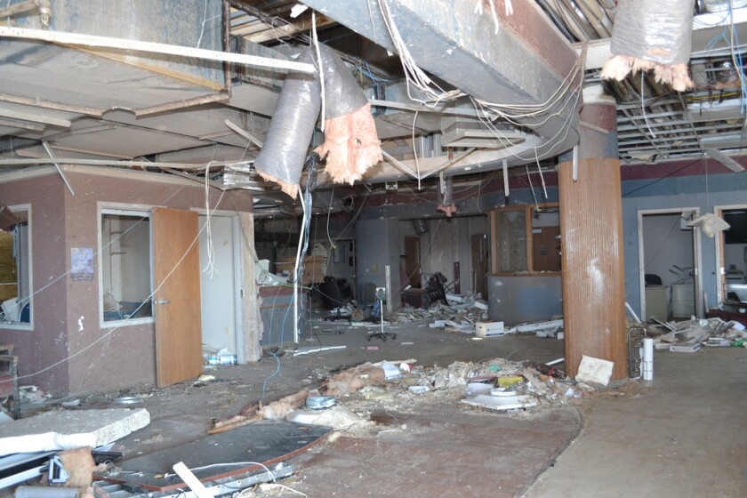 Hospital Tornado Damage