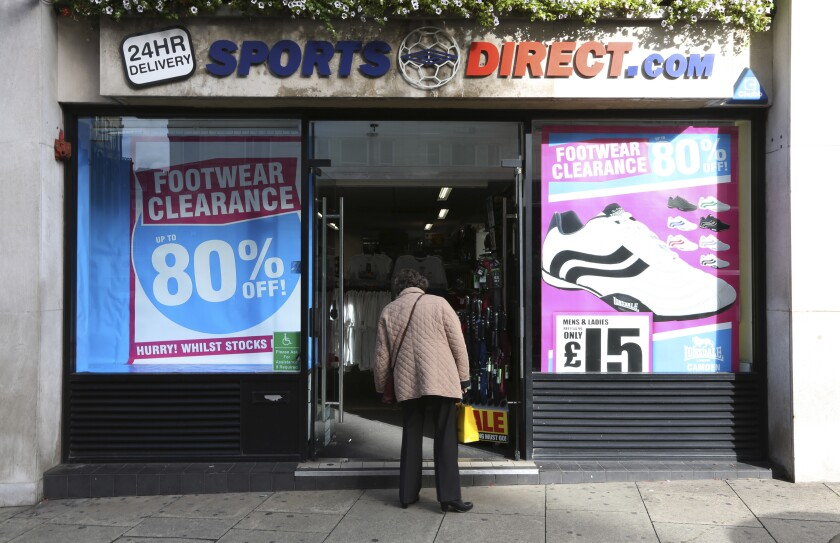 A Sports Direct International Plc store in London
